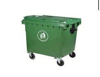 ถังขยะพลาสติกสี่เหลี่ยมล้อเลื่อน ขนาด 660 ลิตร
